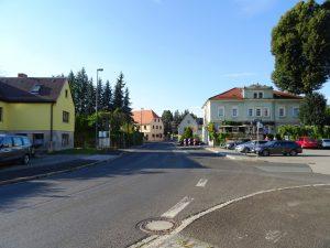 Straße vor dem Ferienobjekt Dresden Lockwitz