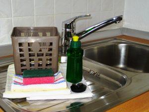 Küchenausstattung Geschirrtücher, Aufwaschlappen und Schwamm, Geschirrspülmittel