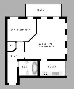 Mietwohnung mit 2 Zimmern in Dresden Lockwitz